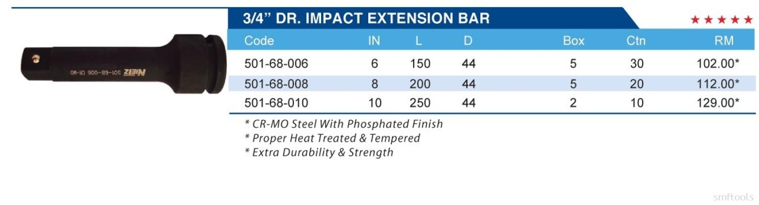 "3/4"" DR.IMPACT EXTENSION BAR"