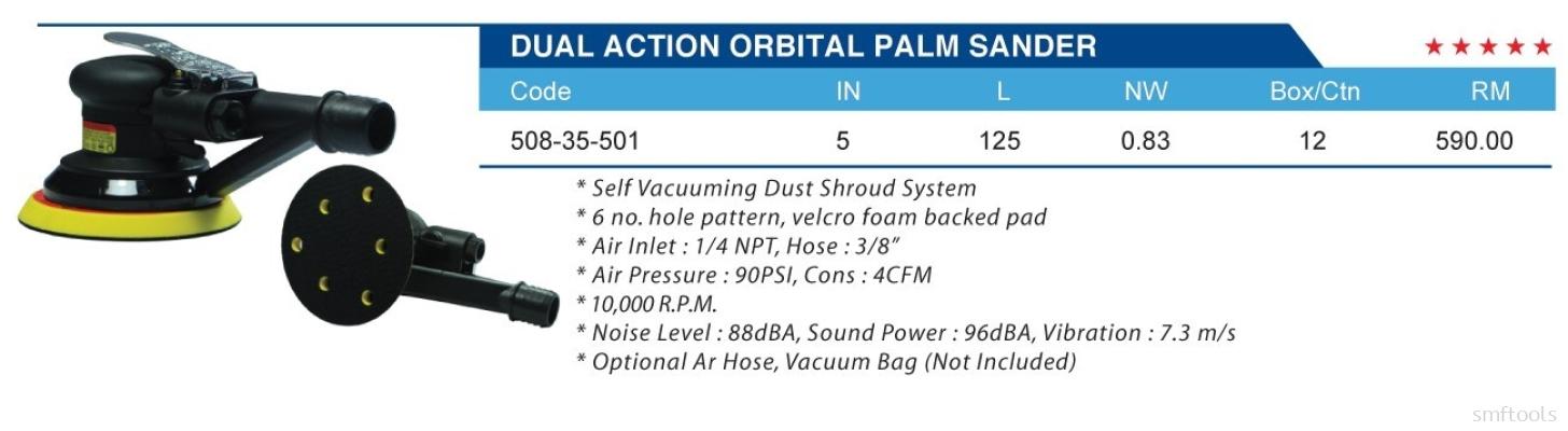 DUAL ACTION ORBITAL PALM SANDER