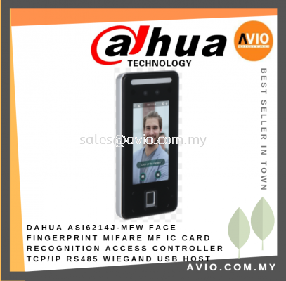 Dahua Face & Fingerprint Recognition Mifare MF IC Card Access Controller TCP/IP RS485 WIEGAND USB HOST ASI6214J-MFW