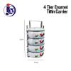 4 Tier Enamel Tiffin Carrier / Mangkuk Tingkat Enamel Dispenser Food Storage