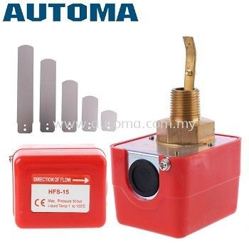 """AUTOMA Flow Switch, Brass Connection, BSPT 1/2"""" #HFS-15"""