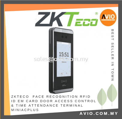 ZKTeco Face Recognition RFID ID EM Card Door Access Control & Time Attendance Terminal MiniACPlus RS485 TCP/IP ADMS