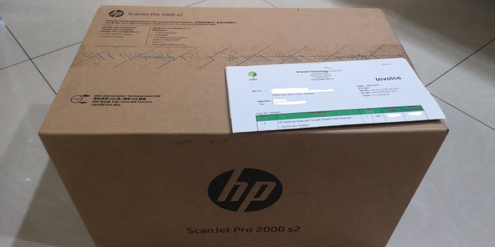 HP 2000 S2ScanJet Pro with Sheet-Feed Scanner