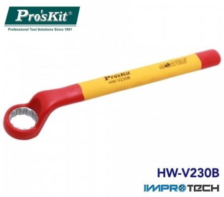 PRO'SKIT [HW-V230B] VDE 1000V Insulated Single Box End Wrench 30mm