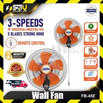 COMFORT FB-45E 18 inch 3-speeds Heavy Duty Industrial Wall Fan (5 B