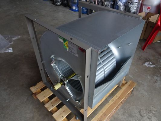 NICOTRA FAN ADH-400-R (EQUIVALENT:ADH E2-400) BLOWER C/W CASING + SHAFT (FAN TYPE:DIDW CENT)
