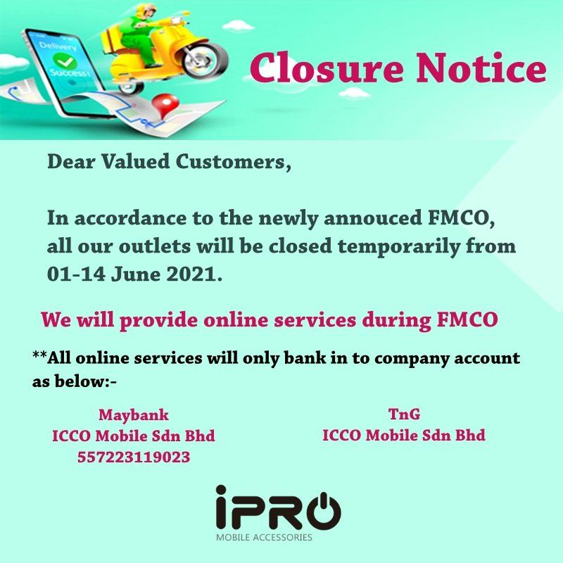 Closure during FMCO