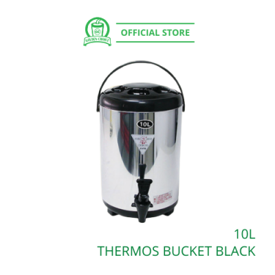 THERMOS BUCKET 10L Black 保温桶 - Keep Warm | Container | Water Storage | Store water
