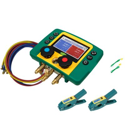 Refco REFMATE 2 Digital Manifold with Charging Hose + Wireless Temperature Clamp