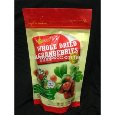 Whole Dried Cranberry Natural 200G