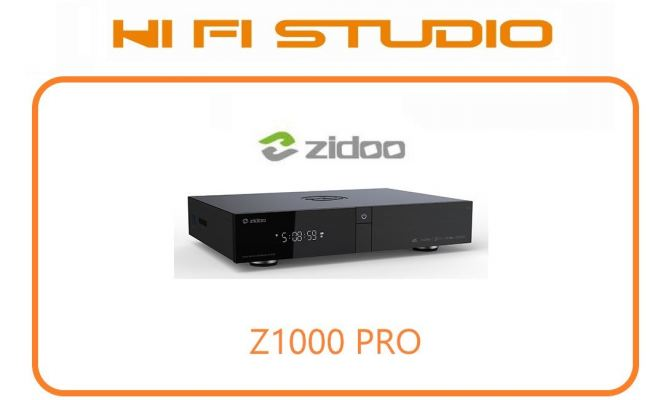 ZIDOO Z1000PRO- RTD1619DR Chipset Android 9.0 Dolby Vision VS10 Large Front Disp Hidden HDD Bay and Antennas��2G+32G��