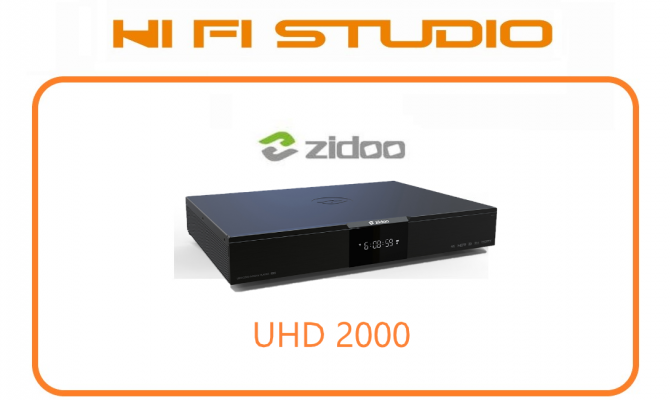 ZIDOO UHD2000 -4K Media Player with Dual HDMI and XMOS+ESS 9038 Chip��4G+32G��