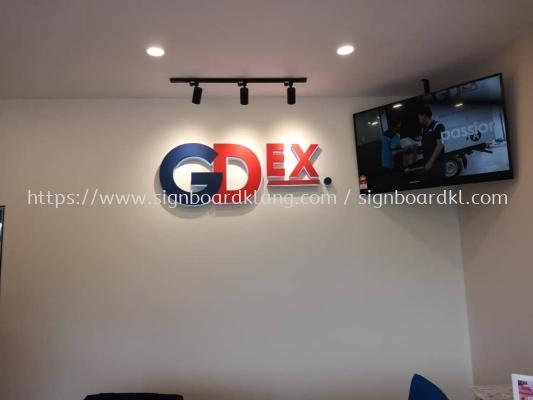 gdex 3d led backlit lettering logo indoor signage signboard at puchong kuala lumpur