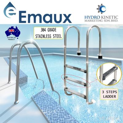 Emaux NMU315-S Stainless Steel grade 304 SWIMMING POOL Ladder complete with 3 Steps
