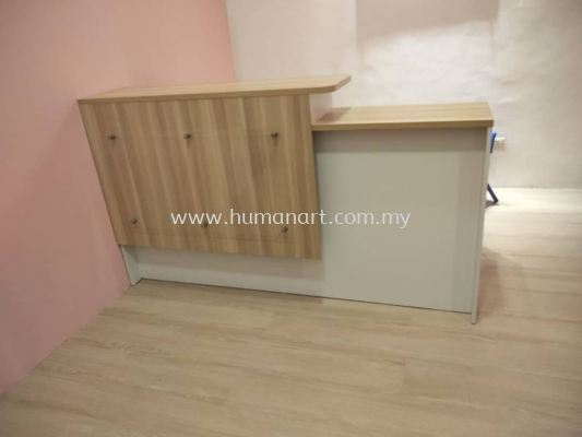 DELIVERY INSTALLATION RECEPTION COUNTER TABLE OFFICE FURNITURE WISMA CENTRAL