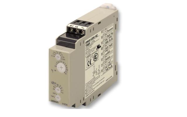 OMRON H3DK-M / -S DIN Track-mounted, 22.5-mm-width Standard Timer Series