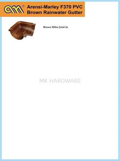 F370 BROWN MITRE JOINT IN