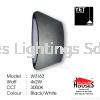 W3163 12W BK LED-WW(4 SIDE) LED Updownlight