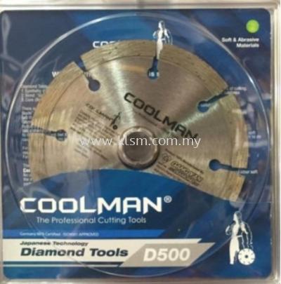 "COOLMAN D500 4"" DIAMOND WHEEL BLADE"