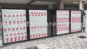 To fabrication,supply and install powder coated folding gate & autogate motor system @ Jalan Priama 4/3, Taman Puchong Prima, 47100 Puchong. Folding Gate  Gate