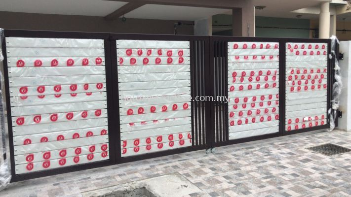 To fabrication,supply and install powder coated folding gate & autogate motor system @ Jalan Priama 4/3, Taman Puchong Prima, 47100 Puchong.