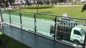 To fabrication supply and install stainless steel Sus304 tempered glass at balcony @ Jalan MR 1/8, Taman Residence, 48000 Rawang. Balcony