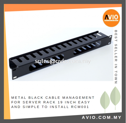 Metal Black Cable Management 1U Panel for Equipment Server Rack 19inch 19 Inch Come with Cover RCM001