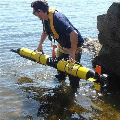I3XO ECOMAPPER AUV - THE NEXT GENERATION OF AUTONOMOUS WATER QUALITY VEHICLES. THE I3XO GENERATES HIGH-RESOLUTION MAPS OF WATER QUALITY, WATER CURRENTS, BATHYMETRY, AND SONAR