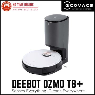 Ecovacs Deebot Ozmo T8+ | Powerful in-depth cleaning with Auto-Empty Station / TrueMapping Technolog