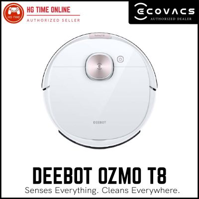Ecovacs Deebot Ozmo T8 Robotic Vacuum Cleaner with TrueDetect 3D & TrueMapping Technology