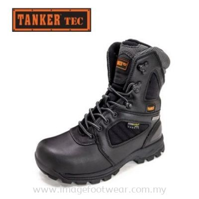 Tanker Technical High-Cut Safety Shoes TKT-60000 - BLACK Colour