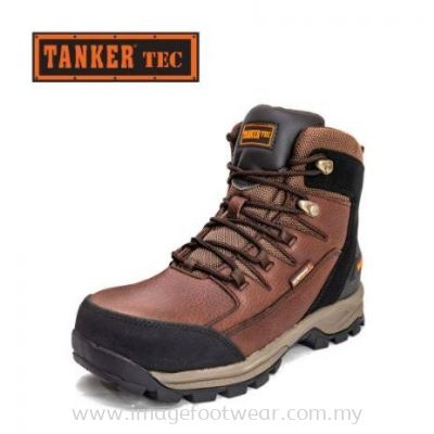 Tanker Technical High-Cut Safety Shoes TKT-60003 - DARK BROWN/BLACK Colour