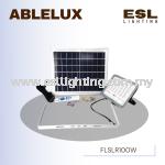 ABLELUX 100W LED SOLAR PANEL FLOODLIGHT / SPOTLIGHT IP 66 DIMMABLE S.O.S LIGHT