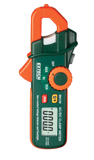 EXTECH MA120 : 200A AC/DC Mini Clamp Meter + Voltage Detector