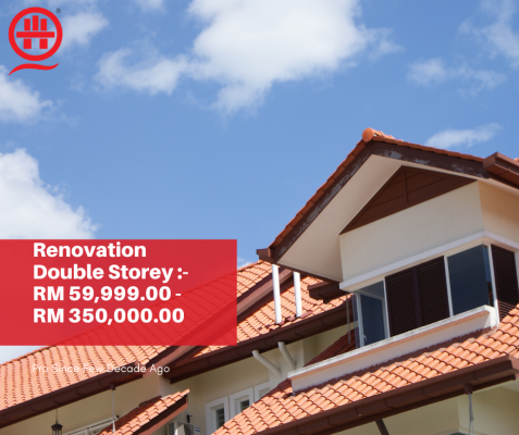 Renovation Contractor For Your Double Storey House? Book Now.