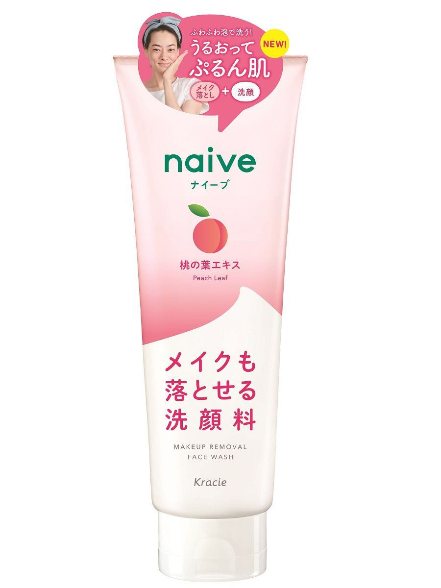 Kracie Naive Makeup Removal Face Wash 200g - Peach Leaf