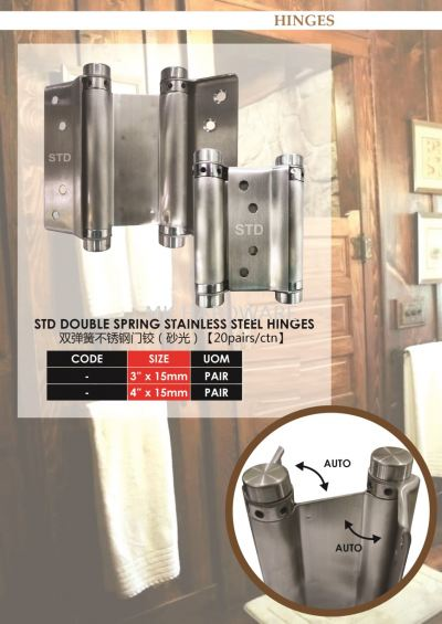 DOUBLE SPRING STAINLESS STEEL HINGES