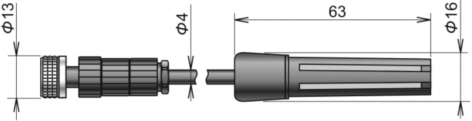 COMET DIGIS/E-10 Digital temperature/humidity probe DIGIS/E-10,ELKA connector, cable 10 meters