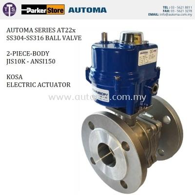 Electric Actuator Flange Ball Valve