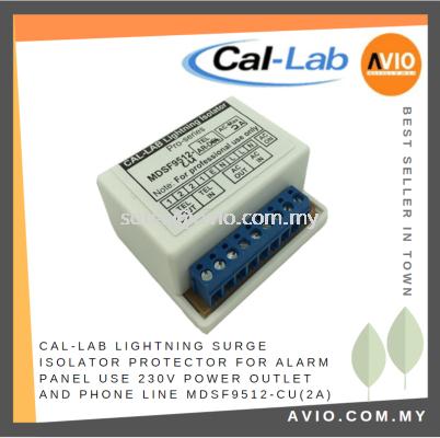 CAL-LAB Callab Cal Lab Lightning Surge Isolator Protector for Alarm Panel use 230V Power + Phone Line MDSF9512-cu(2A)