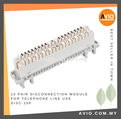 10 Pair Disconnection Module for Telephone Line use DISC-10P