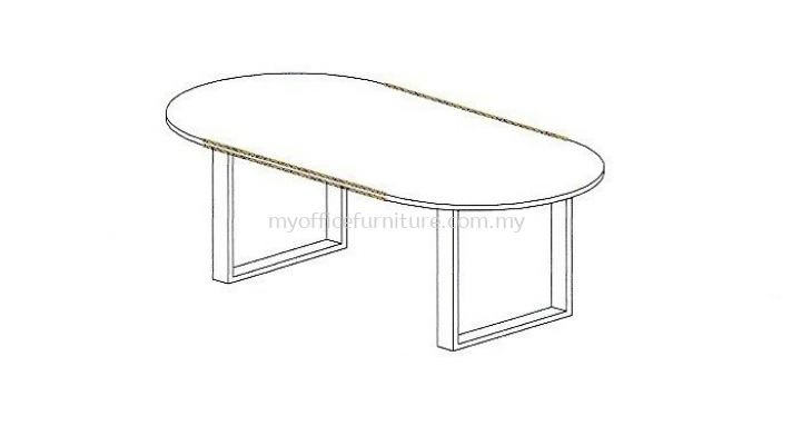 MY-SOC OVAL MEETING TABLE WITH SQUARE LEG (RM 726.00/UNIT)