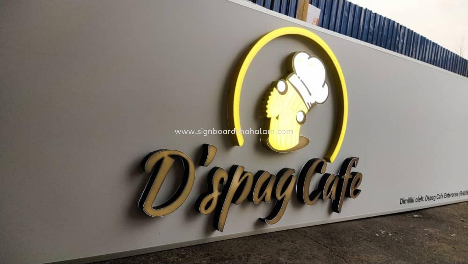 Signboard D 'spag Cafe, 3D LED Signboard