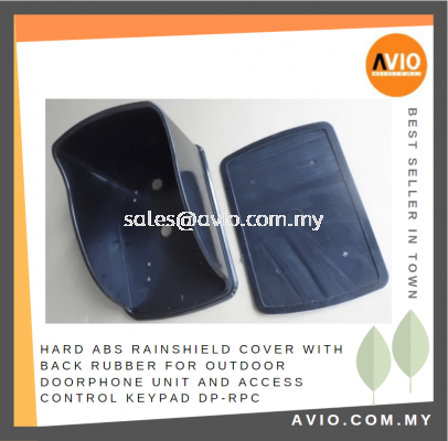 Hard ABS Rain Shield Cover with Back Rubber for Outdoor Door Phone unit and Access Control Keypad DP-RPC