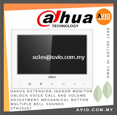 Dahua Extension Indoor Monitor Unlock Voice Call and Volume Adjustment Mechanical Button Multiple Bell Sounds VTH1020J