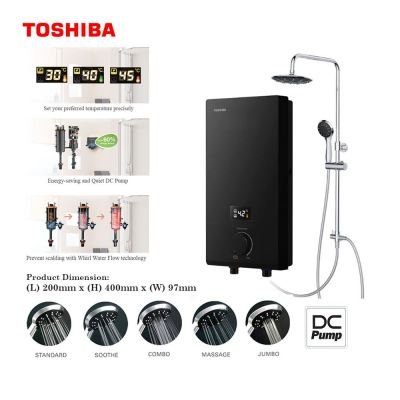 Toshiba Instant Electric Water Heater with Pump + Rain Shower TSB-DSK38ES3MBRS