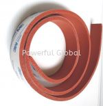 Red Silicone Sponge With One Side 3M Tape