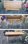 MY-MYJ FOLDABLE TABLE WITH CASTOR (RM 458.00/UNIT) Banquet Foldable Table TABLE