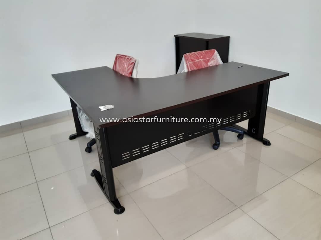 DELIVERY & INSTALLATION L-SHAPE TABLE QL 1515(R) OFFICE FURNITURE IOI BOULEVARD, PUCHONG