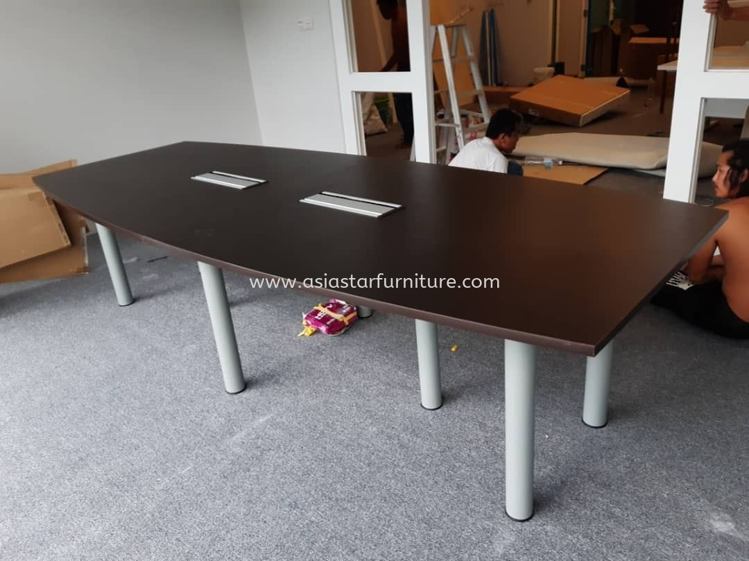 DELIVERY & INSTALLATION MEETING TABLE (INCLUDED FLIPPER COVER) QBC 30 OFFICE FURNITURE TAMAN PERINDU